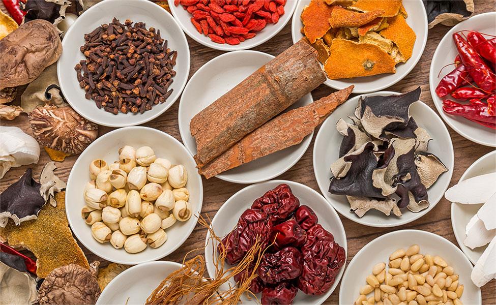 写真:漢方の原料