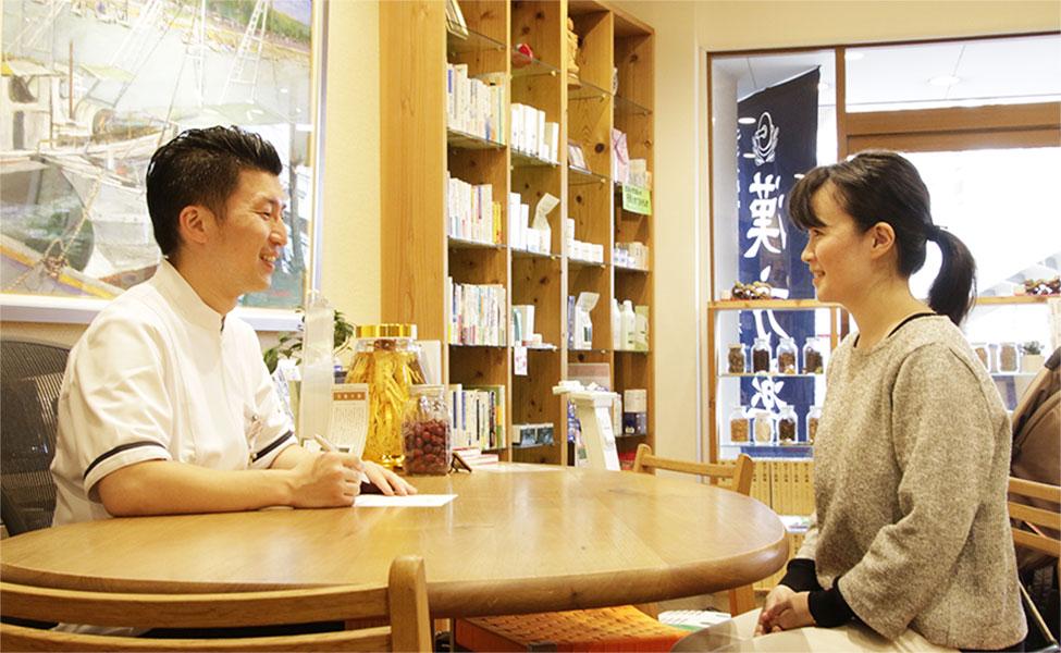 写真:トシモリ薬局 カウンセリング